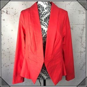 * Torrid Coral Blazer Open Front Jacket Stretch *